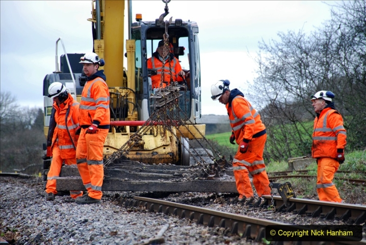 2020-01-06 Track renewal Cowpat Crossing to just beyond Dickers Crossing. (88) 088