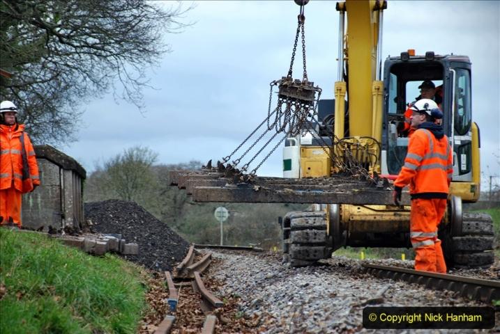 2020-01-06 Track renewal Cowpat Crossing to just beyond Dickers Crossing. (89) 089