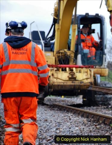 2020-01-06 Track renewal Cowpat Crossing to just beyond Dickers Crossing. (90) 090