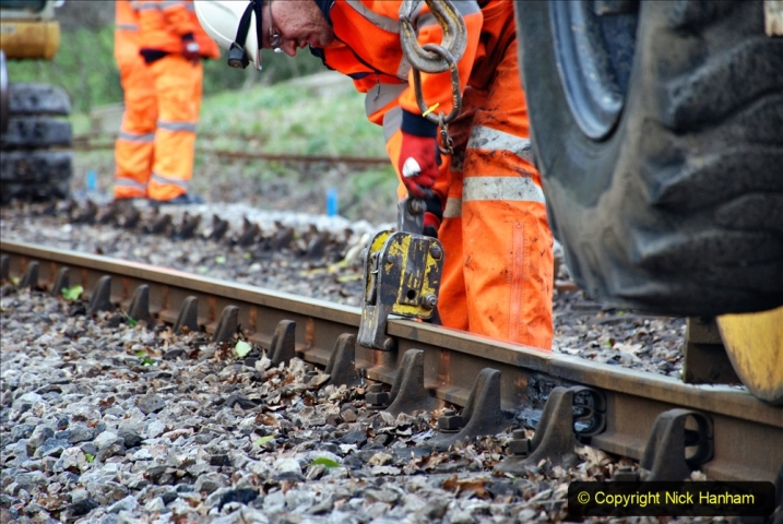 2020-01-06 Track renewal Cowpat Crossing to just beyond Dickers Crossing. (91) 091