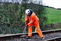 2020-01-06 Track renewal Cowpat Crossing to just beyond Dickers Crossing. (26) 026