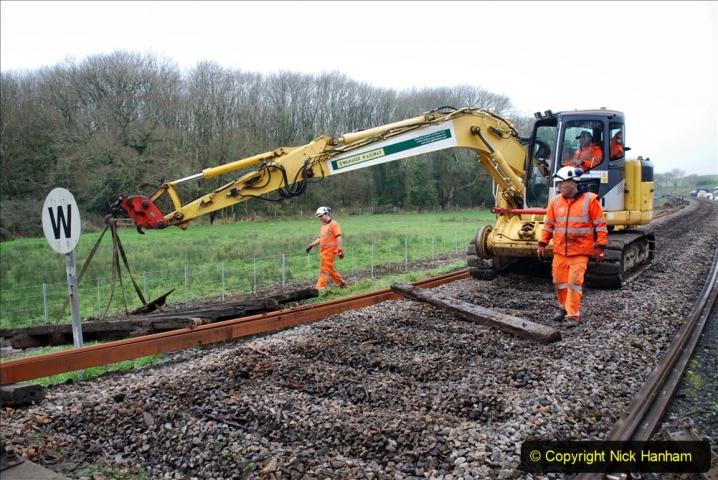 2020-01-07 Track renewal Cowpat Crossing to Just beyond Dickers Crossing. (103) 103