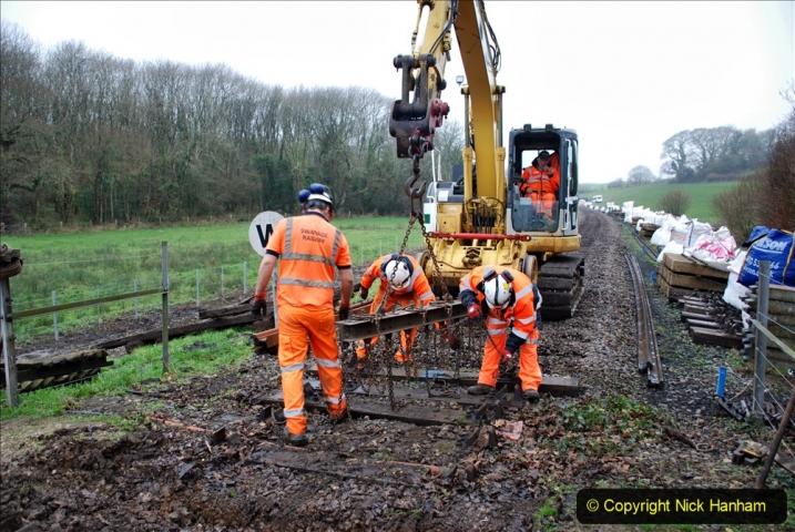 2020-01-07 Track renewal Cowpat Crossing to Just beyond Dickers Crossing. (104) 104