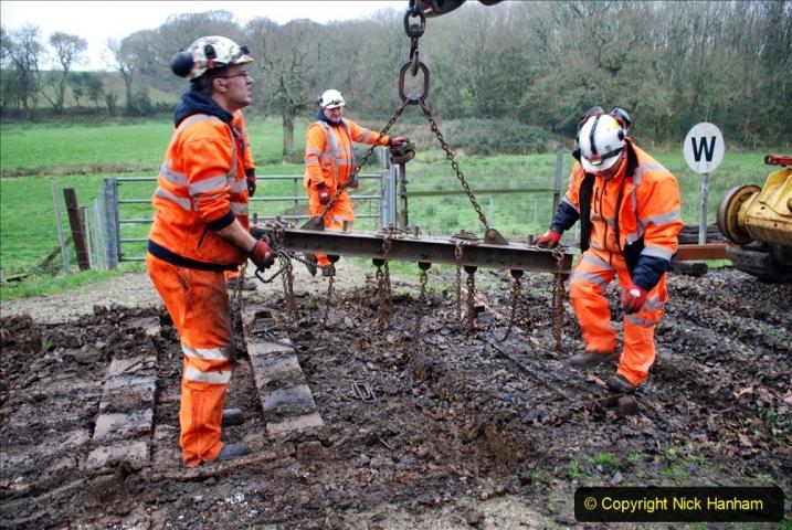 2020-01-07 Track renewal Cowpat Crossing to Just beyond Dickers Crossing. (105) 105
