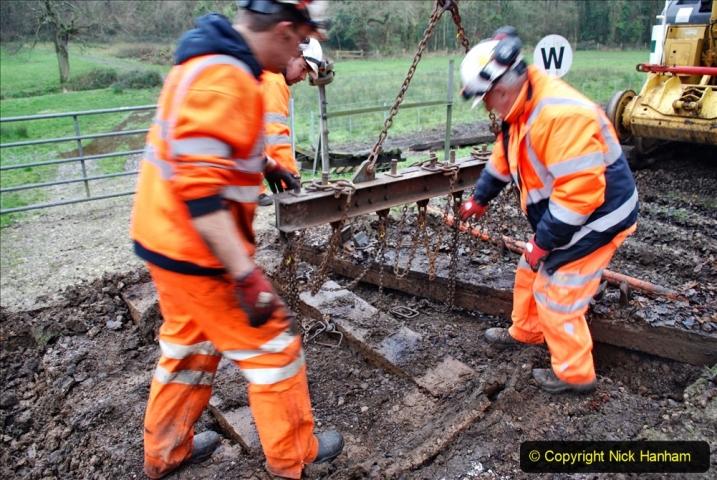 2020-01-07 Track renewal Cowpat Crossing to Just beyond Dickers Crossing. (106) 106