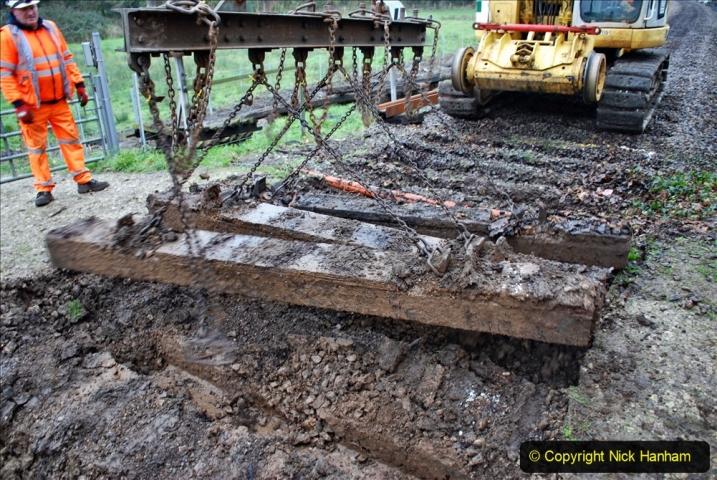 2020-01-07 Track renewal Cowpat Crossing to Just beyond Dickers Crossing. (107) 107