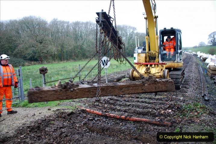 2020-01-07 Track renewal Cowpat Crossing to Just beyond Dickers Crossing. (108) 108