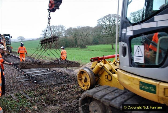 2020-01-07 Track renewal Cowpat Crossing to Just beyond Dickers Crossing. (109) 109