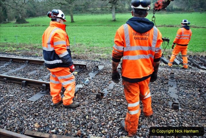 2020-01-07 Track renewal Cowpat Crossing to Just beyond Dickers Crossing. (111) 111