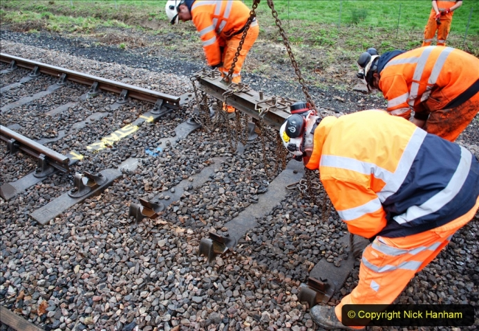2020-01-07 Track renewal Cowpat Crossing to Just beyond Dickers Crossing. (112) 112