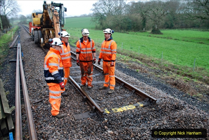 2020-01-07 Track renewal Cowpat Crossing to Just beyond Dickers Crossing. (115) 115