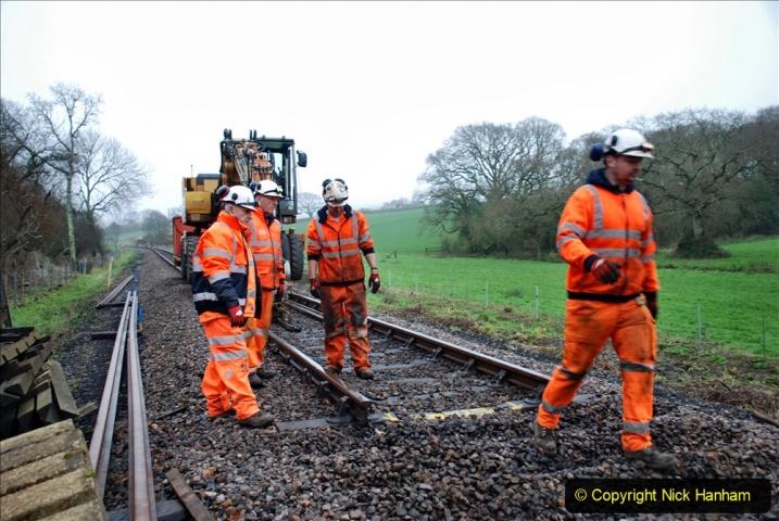 2020-01-07 Track renewal Cowpat Crossing to Just beyond Dickers Crossing. (116) 116
