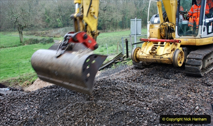 2020-01-07 Track renewal Cowpat Crossing to Just beyond Dickers Crossing. (124) 124