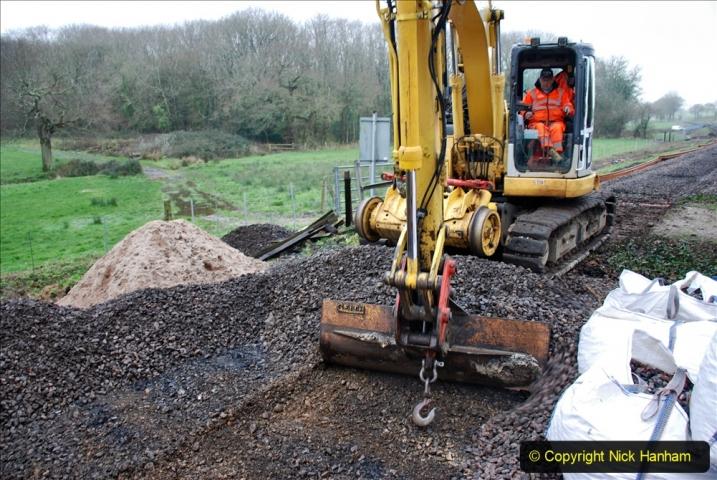 2020-01-07 Track renewal Cowpat Crossing to Just beyond Dickers Crossing. (125) 125