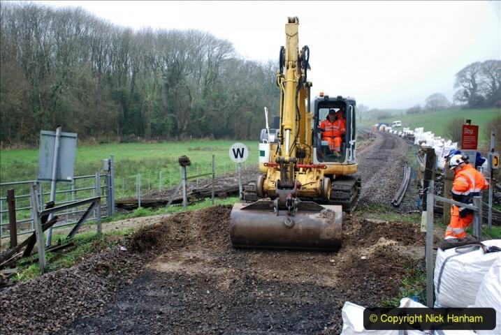 2020-01-07 Track renewal Cowpat Crossing to Just beyond Dickers Crossing. (130) 130