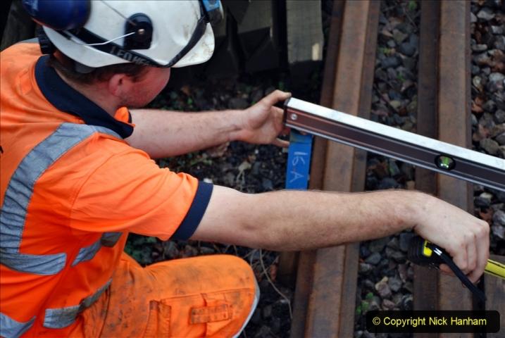 2020-01-07 Track renewal Cowpat Crossing to Just beyond Dickers Crossing. (135) 135