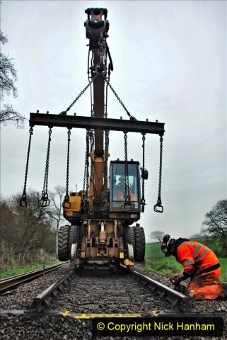 2020-01-07 Track renewal Cowpat Crossing to Just beyond Dickers Crossing. (137) 137