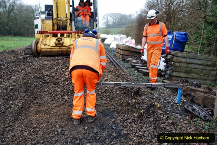2020-01-07 Track renewal Cowpat Crossing to Just beyond Dickers Crossing. (145) 145
