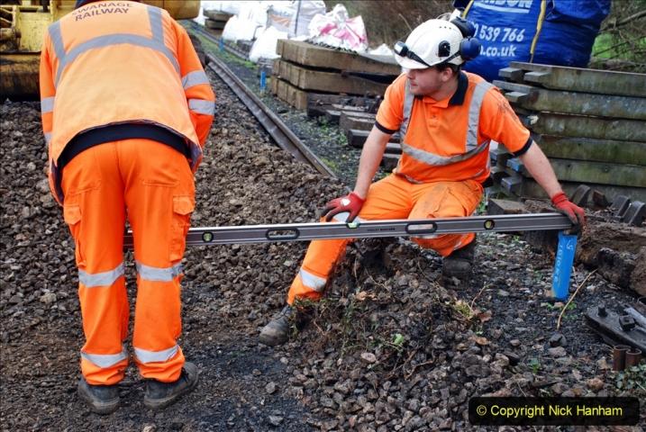2020-01-07 Track renewal Cowpat Crossing to Just beyond Dickers Crossing. (146) 146