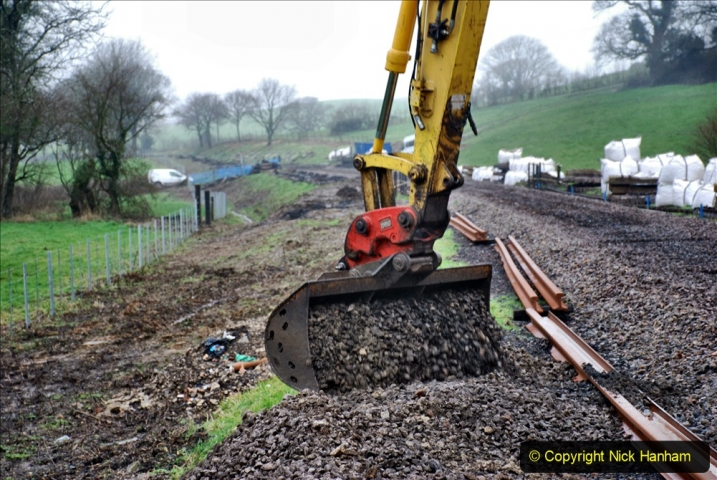 2020-01-07 Track renewal Cowpat Crossing to Just beyond Dickers Crossing. (151) 151