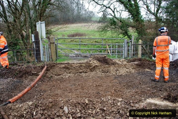 2020-01-07 Track renewal Cowpat Crossing to Just beyond Dickers Crossing. (152) 152