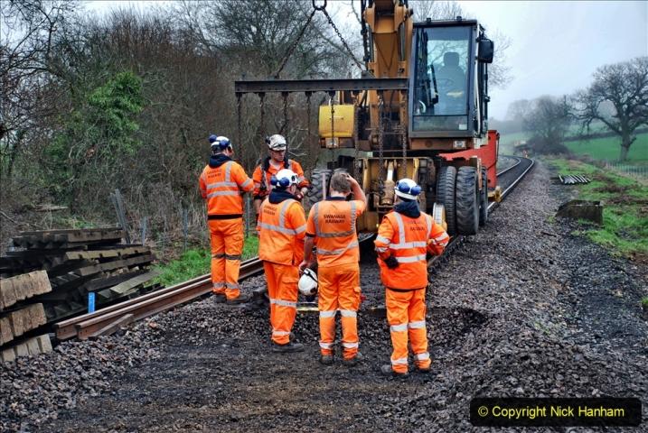 2020-01-07 Track renewal Cowpat Crossing to Just beyond Dickers Crossing. (153) 153
