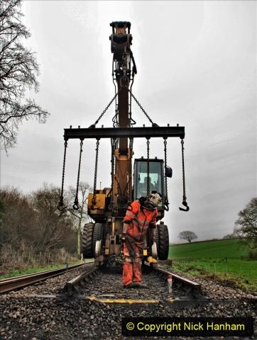2020-01-07 Track renewal Cowpat Crossing to Just beyond Dickers Crossing. (156) 156