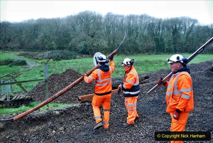 2020-01-07 Track renewal Cowpat Crossing to Just beyond Dickers Crossing. (157) 157
