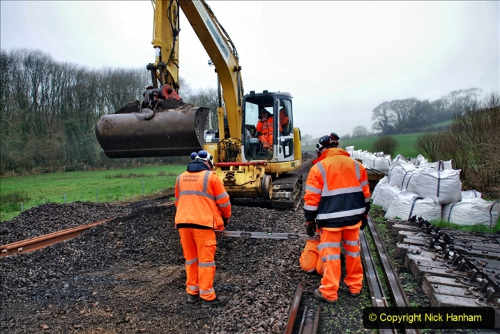 2020-01-07 Track renewal Cowpat Crossing to Just beyond Dickers Crossing. (158) 158