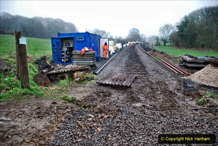 2020-01-07 Track renewal Cowpat Crossing to Just beyond Dickers Crossing. (173) 173