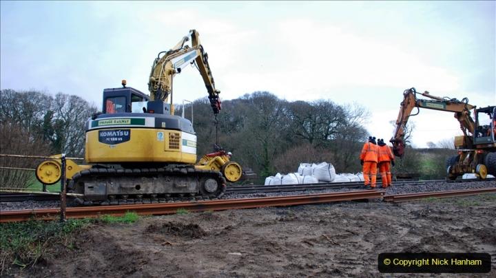 2020-01-07 Track renewal Cowpat Crossing to Just beyond Dickers Crossing. (19) 019