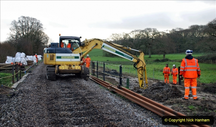 2020-01-07 Track renewal Cowpat Crossing to Just beyond Dickers Crossing. (45) 045