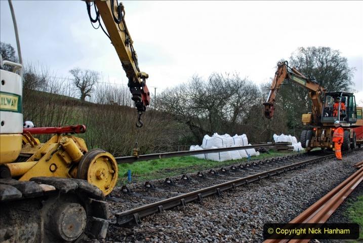 2020-01-07 Track renewal Cowpat Crossing to Just beyond Dickers Crossing. (56) 056