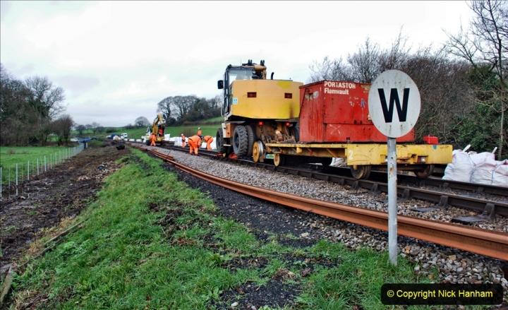 2020-01-07 Track renewal Cowpat Crossing to Just beyond Dickers Crossing. (57) 057
