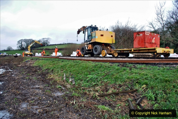 2020-01-07 Track renewal Cowpat Crossing to Just beyond Dickers Crossing. (58) 058