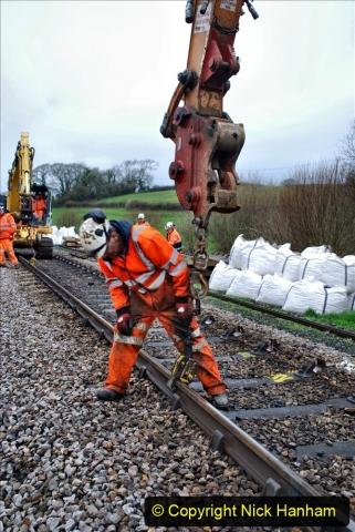2020-01-07 Track renewal Cowpat Crossing to Just beyond Dickers Crossing. (63) 063