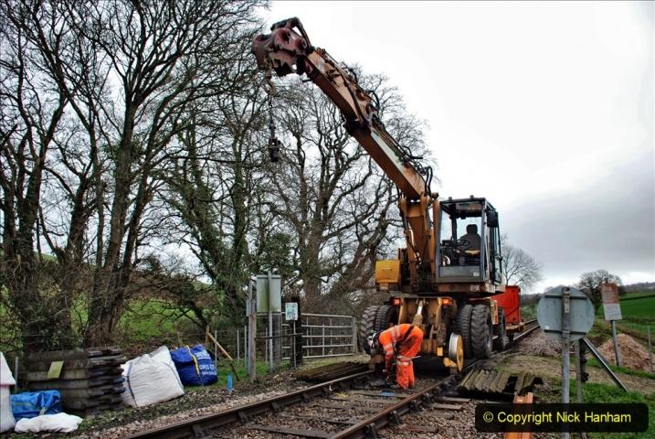 2020-01-07 Track renewal Cowpat Crossing to Just beyond Dickers Crossing. (64) 064