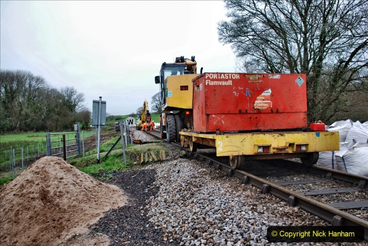 2020-01-07 Track renewal Cowpat Crossing to Just beyond Dickers Crossing. (67) 067