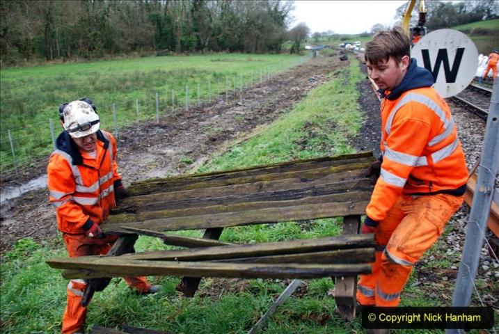 2020-01-07 Track renewal Cowpat Crossing to Just beyond Dickers Crossing. (74) 074