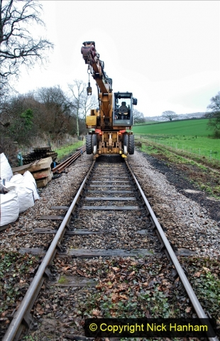 2020-01-07 Track renewal Cowpat Crossing to Just beyond Dickers Crossing. (79) 079