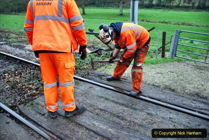 2020-01-07 Track renewal Cowpat Crossing to Just beyond Dickers Crossing. (80) 080