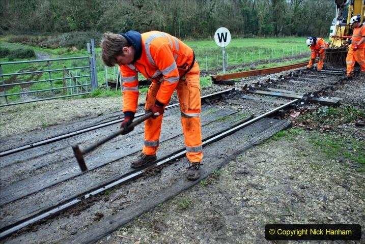 2020-01-07 Track renewal Cowpat Crossing to Just beyond Dickers Crossing. (81) 081