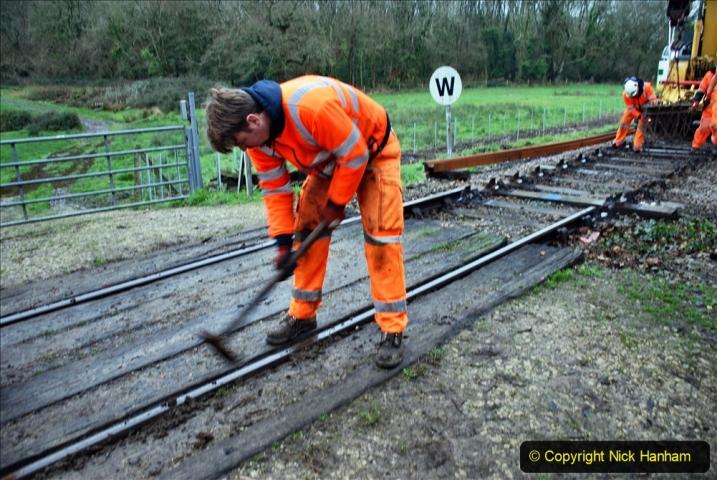 2020-01-07 Track renewal Cowpat Crossing to Just beyond Dickers Crossing. (82) 082
