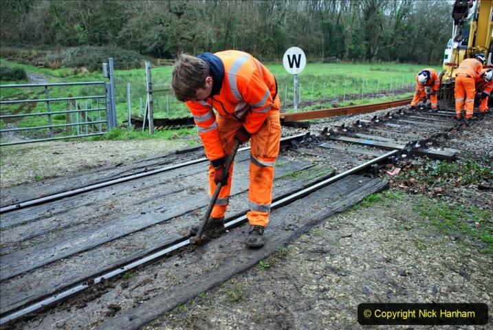 2020-01-07 Track renewal Cowpat Crossing to Just beyond Dickers Crossing. (83) 083