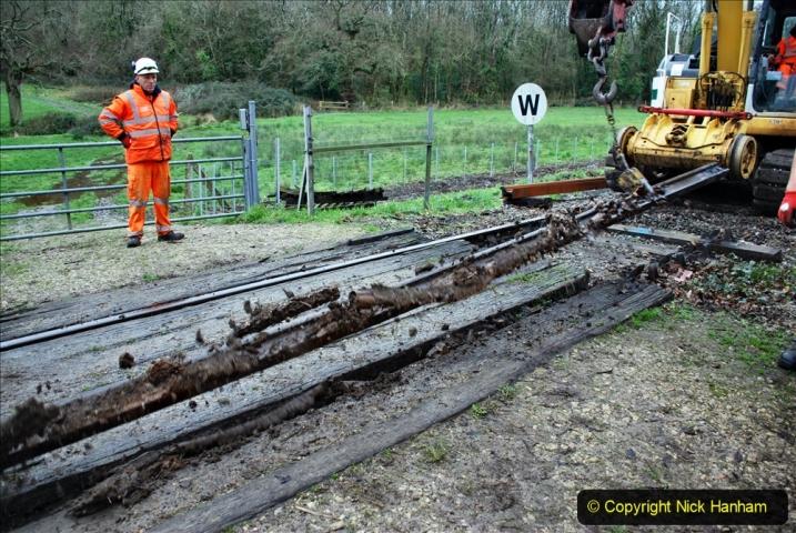 2020-01-07 Track renewal Cowpat Crossing to Just beyond Dickers Crossing. (84) 084