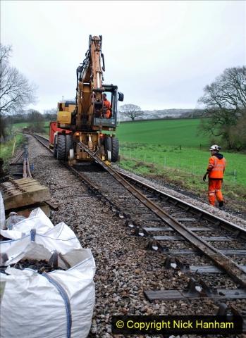 2020-01-07 Track renewal Cowpat Crossing to Just beyond Dickers Crossing. (85) 085