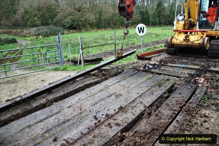 2020-01-07 Track renewal Cowpat Crossing to Just beyond Dickers Crossing. (87) 087