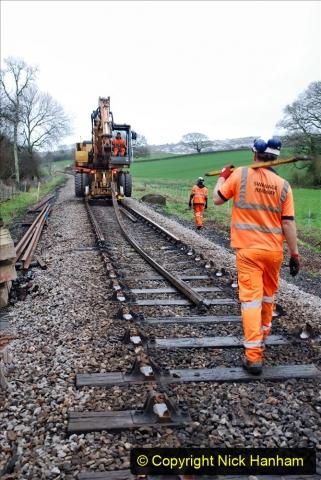 2020-01-07 Track renewal Cowpat Crossing to Just beyond Dickers Crossing. (88) 088