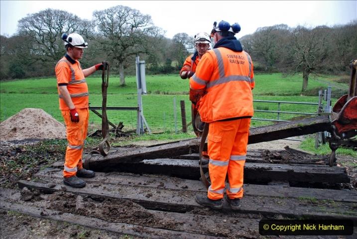 2020-01-07 Track renewal Cowpat Crossing to Just beyond Dickers Crossing. (91) 091