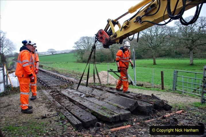 2020-01-07 Track renewal Cowpat Crossing to Just beyond Dickers Crossing. (92) 092